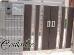 ブラウン色の門扉にMTG-2424