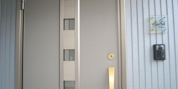 ヴェネチアンガラス表札玄関イメージ