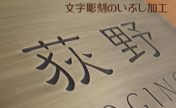 彫刻文字部のアップ
