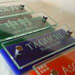 マンション用ガラス表札AG-155