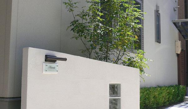 フロストガラス表札FGC-BP2212設置イメージ