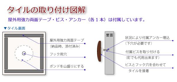 表札の取り付け方法(タイル表札RTL-145版)