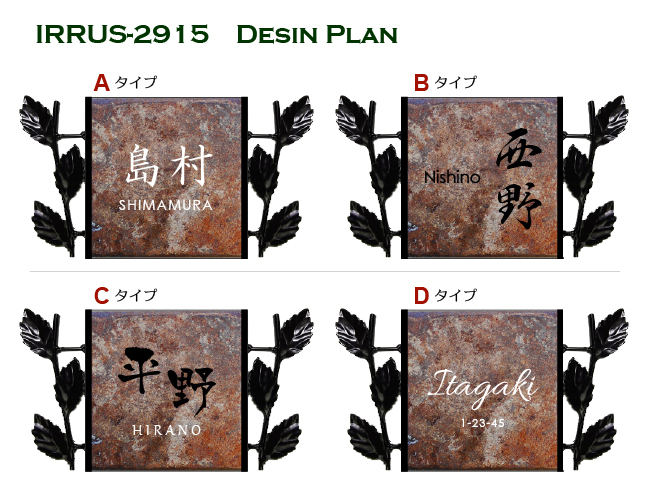 IRRUS-2915デザインプラン